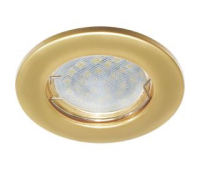 Ecola Light MR16 DL90 GU5.3 Светильник встр. плоский Перламутровое золото 30x80 Solnechnogorsk
