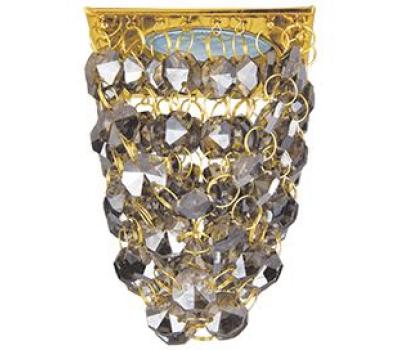 """Ecola MR16 CR1014 GU5.3 Glass Стекло Квадрат """"Хрустальная гроздь"""" Тонированный / Золото 80x80x140 Solnechnogorsk"""