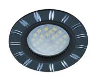 НОВИНКА!Светильник Ecola MR16 DL3184 GU5.3 встр. литой (скрытый крепёж лампы) Двойные реснички по кругу Чёрный/Алюминий 23х78 Solnechnogorsk