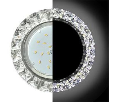 Ecola GX53 H4 LD5361 Glass Круг с крупными стразами Конус с подсветкой/фон зерк./центр.часть хром 52x120 (к+) Solnechnogorsk