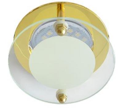 Ecola MR16 DL201 GU5.3 Glass Круг со стеклом Прозрачный и Матовый / Золото 45x80 Solnechnogorsk