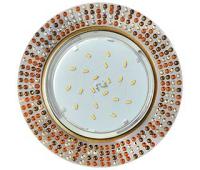 Ecola GX53 H4 5319 Glass Круг с  прозр.-янтарной мозаикой/фон зерк./центр.часть черненая бронза 40x123x123 (к+) Solnechnogorsk