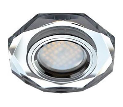 Ecola MR16 DL1652 GU5.3 Glass Стекло 8-угольник с прямыми гранями Хром / Хром 25x90 Solnechnogorsk