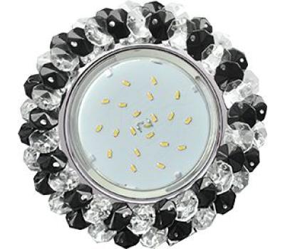 Ecola GX53 H4 Glass Круглый с хрусталиками прозрачный и черный/ хром 56x120 Solnechnogorsk
