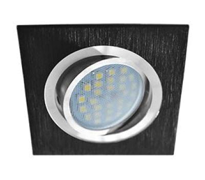 Ecola MR16 DL205 GU5.3 Светильник встр. литой поворотный Квадрат Шлифованный черный / Хром 25x92x92 Solnechnogorsk