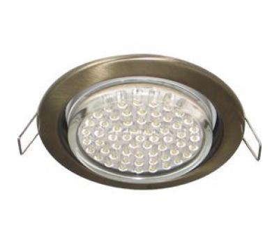 Ecola GX53 H4 светильник встраив. без рефл. чернёная бронза 38х106 - 2 pack Solnechnogorsk