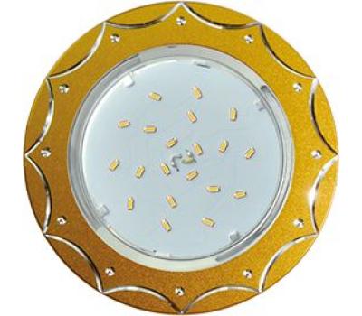 Ecola GX53 H4 DL5384  светильник встраив. без рефл. Звезда матовое Золото/Алюм 20x110 (к+) Solnechnogorsk