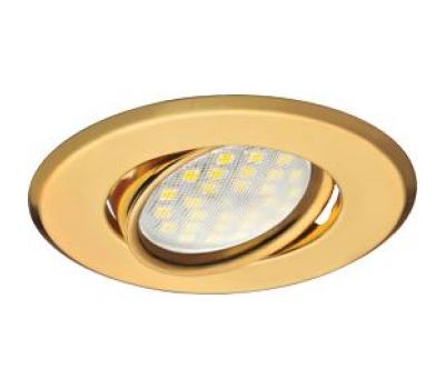 Светильник Ecola MR16 DH09 GU5.3 встр. поворотный плоский (скрытый крепеж лампы) Золото 25x90 Solnechnogorsk