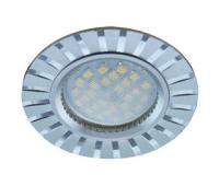 НОВИНКА!Светильник Ecola MR16 DL3183 GU5.3 встр. литой (скрытый крепёж лампы) Полоски по кругу Матовый хром/Алюминий 23х78 Solnechnogorsk