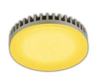 Ecola GX53   LED color  6,1W Tablet 220V Yellow Желтый матовое стекло 28x74 Solnechnogorsk