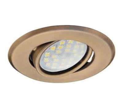Светильник Ecola MR16 DH09 GU5.3 встр. поворотный плоский (скрытый крепеж лампы) Бронза 25x90 Solnechnogorsk
