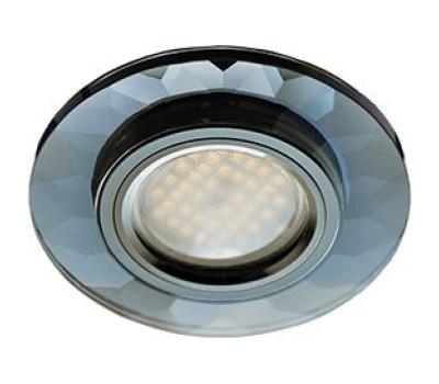 Ecola MR16 DL1654 GU5.3 Glass Стекло Круг граненый Черный / Черный хром 25x90 Solnechnogorsk