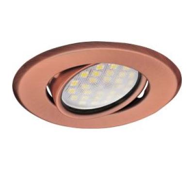 Светильник Ecola MR16 DH09 GU5.3 встр. поворотный плоский (скрытый крепеж лампы) Медь 25x90 Solnechnogorsk