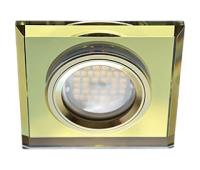 Ecola MR16 DL1651 GU5.3 Glass Стекло Квадрат скошенный край Золото / Золото 25x90x90 Solnechnogorsk