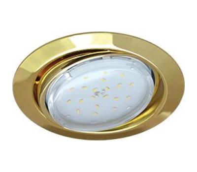 Ecola GX53 FT9073 светильник встраиваемый поворотный золото 40x120 Solnechnogorsk