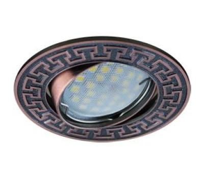 НОВИНКА!Светильник Ecola MR16 DL111 GU5.3 встр. литой поворотный Антик2 Чернёная Медь 24х88 Solnechnogorsk