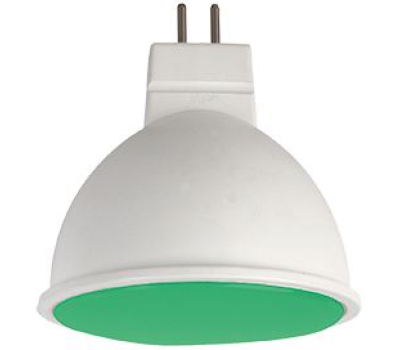 Ecola MR16   LED color  7,0W  220V GU5.3 Green Зеленый матовое стекло (композит) 47х50 Solnechnogorsk