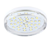 НОВИНКА! Ecola Light GX53 LED  8,0W Tablet 220V 2800K 27x75 прозрачное стекло 30000h Solnechnogorsk