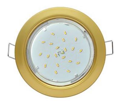 Ecola GX53 H4  светильник встраиваемый без рефлектора  Сатин золото  38x106 Solnechnogorsk