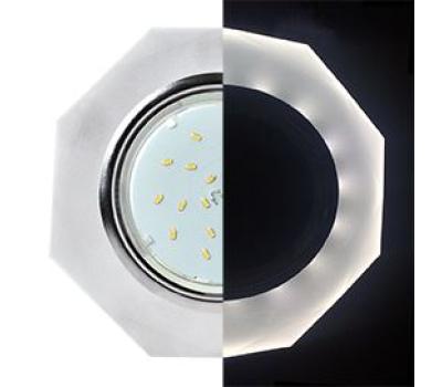 Ecola GX53 H4 LD5312 Glass Стекло 8-угольник с прямыми гранями с подсветкой  хром - матовый 38x133 (к+) Solnechnogorsk