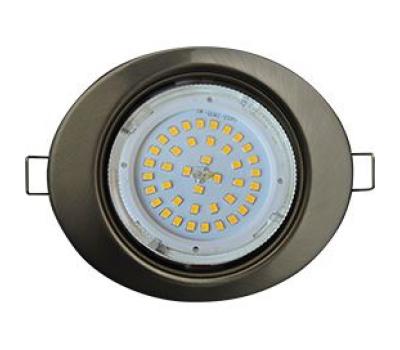 Ecola GX53 FT3238 светильник встр. без рефлектора Эллипс сатин-хром 41x126x106 Solnechnogorsk