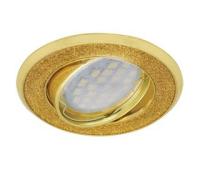 НОВИНКА!Светильник Ecola MR16 DL39 GU5.3 встр. литой поворотный Круг под стеклом Золотой блеск/Золото 23х88 Solnechnogorsk