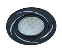 НОВИНКА!Светильник Ecola MR16 DL3181 GU5.3 встр. литой (скрытый крепёж лампы) Вихрь Чёрный/Алюминий 23х78 Solnechnogorsk