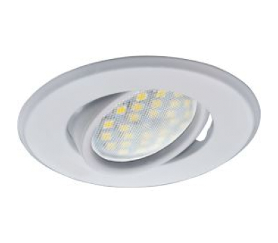 Светильник Ecola MR16 DH09 GU5.3 встр. поворотный плоский (скрытый крепеж лампы) Белый 25x90 Solnechnogorsk