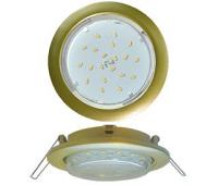 Ecola GX53 5355 Встраиваемый Легкий Золото (светильник) 25x106 Solnechnogorsk