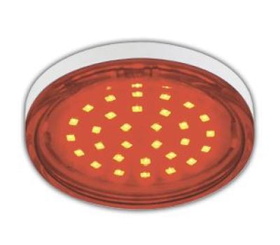 Ecola GX53   LED color  4,4W Tablet 220V Red Красный прозрачное стекло 27x74 Solnechnogorsk