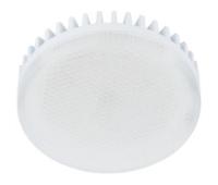 Лампа Еcola GX53   LED 10.0W Tablet 220V 2800K матовое стекло (ребристый алюм. радиатор) 27x75 Solnechnogorsk