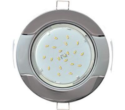 """Ecola GX53 H4 светильник встраив. без рефл. """"Волна"""" черный хром-серебро 38x116 Solnechnogorsk"""