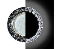 Ecola GX53 H4 LD5361 Glass Круг с крупными стразами Конус с подсветкой/фон черн./центр.часть хром 52x120 (к+) Solnechnogorsk