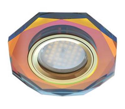 Ecola MR16 DL1652 GU5.3 Glass Стекло 8-угольник с прямыми гранями Мультиколор / Золото 25x90 Solnechnogorsk