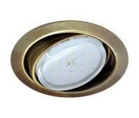 Ecola GX53 FT9073 светильник встраиваемый поворотный черненая бронза (antique brass) 40x120 Solnechnogorsk