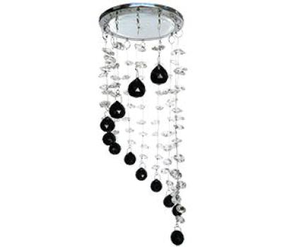 """Ecola GX53 H4 5354 Glass Круг """"Хрустальная нить"""" Прозрачный и Черный / Хром 330x105 (к+) Solnechnogorsk"""
