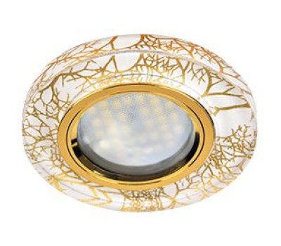 Ecola MR16 DL1650 GU5.3 Glass Стекло Круг Золото на белом / Золото 25x95 (кd74) Solnechnogorsk