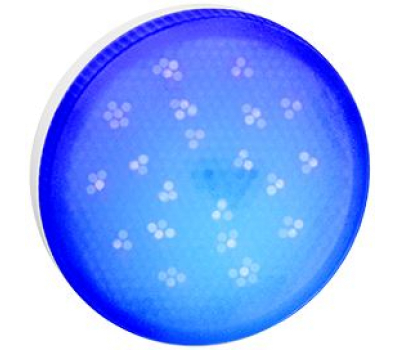 Ecola GX53   LED color  8,0W Tablet 220V Blue Синий матовое стекло (композит) 28x74 Solnechnogorsk