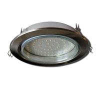 Встраиваемый потолочный точечный светильник-спот Экола GX70 H5 без рефлектора. Сатин-Хром. Solnechnogorsk