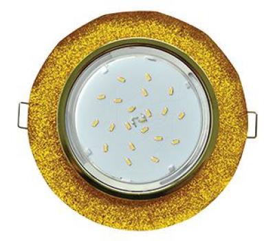 Ecola GX53 H4 Glass Стекло Круг с вогнутыми гранями золото - золотой блеск 38x126 Solnechnogorsk