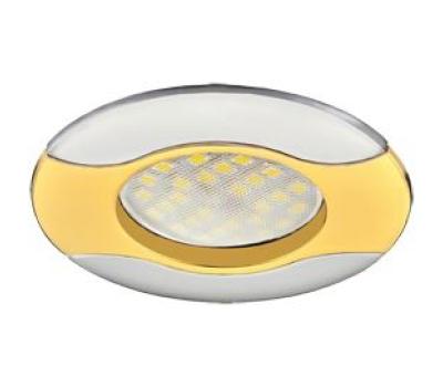 НОВИНКА!Светильник Ecola MR16 HL029 GU5.3 встр. литой Волна (скрытый крепёж лампы) Золото/Хром 22х82 Solnechnogorsk
