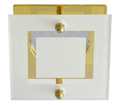 Ecola MR16 DL200 GU5.3 Glass Квадрат со стеклом Прозрачный и Матовый / Золото 45x77x77 Solnechnogorsk