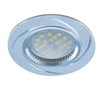 НОВИНКА!Светильник Ecola MR16 DL3181 GU5.3 встр. литой (скрытый крепёж лампы) Вихрь Матовый хром/Алюминий 23х78 Solnechnogorsk