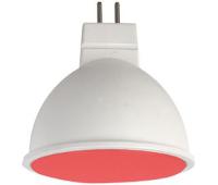Ecola MR16   LED color  7,0W  220V GU5.3 Red Красный матовое стекло (композит) 47x50 Solnechnogorsk