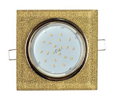 Ecola GX53 H4 Glass Стекло Квадрат скошенный край Золото - золотой блеск 38x120x120 (к+) Solnechnogorsk