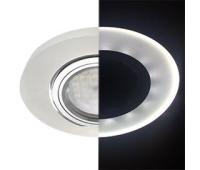Ecola MR16 LD1650 GU5.3 Glass Стекло с подсветкой Круг Матовый / Хром 25x95 (кd74) Solnechnogorsk