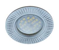 НОВИНКА!Светильник Ecola MR16 DL3182 GU5.3 встр. литой (скрытый крепёж лампы) Рифлёные реснички по кругу Матовый хром/Алюминий 23х78 Solnechnogorsk