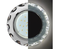 Ecola GX53 H4 LD5313 Glass Стекло Круг с вогнутыми гранями с подсветкой  хром - хром (зеркальный) 38x126 (к+) Solnechnogorsk