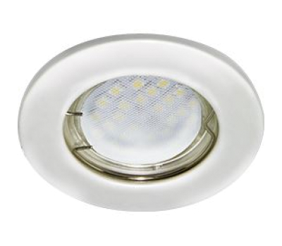 Ecola Light MR16 DL90 GU5.3 Светильник встр. плоский Перламутровое серебро 30x80 Solnechnogorsk