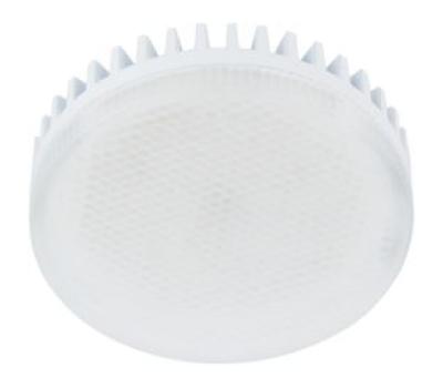 Лампа Еcola GX53   LED 10.0W Tablet 220V 6000K матовое стекло (ребристый алюм. радиатор) 27x75 Solnechnogorsk